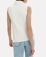 Turtleneck Knit Sweater, WHITE, hi-res