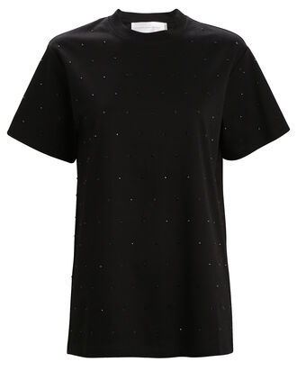 Crystal Embellished T-Shirt, BLACK, hi-res