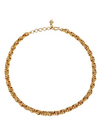 Chain Reaction Rolled Rope Necklace, GOLD, hi-res