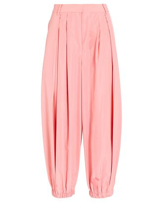 Pleated Taffeta Balloon Pants, PINK, hi-res