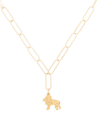 The Lion of the Night Necklace, GOLD, hi-res