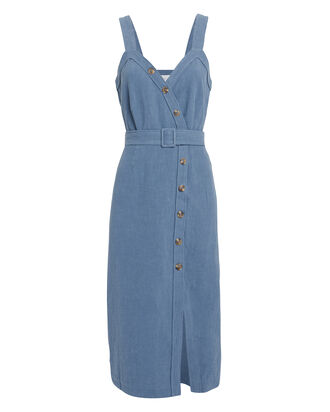 Avalyn Denim Midi Dress, DENIM, hi-res