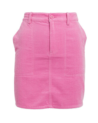 Kelly Corduroy Mini Skirt, BUBBLEGUM PINK, hi-res