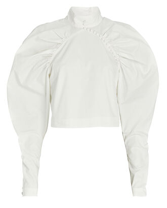 Kim Ruched Puff Sleeve Top, , hi-res