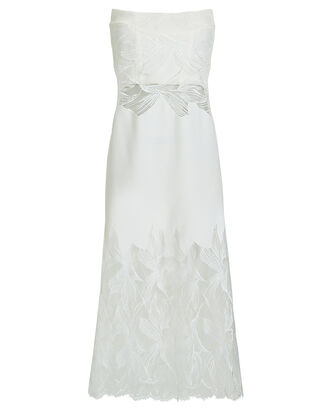 Lace Appliqué Suspended Dress, IVORY, hi-res