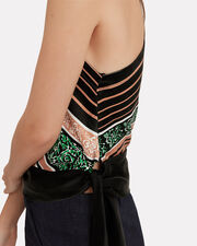One Shoulder Silk Blouse, MULTI, hi-res