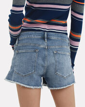 Le Cut-Off Denim Shorts, MEDIUM WASH DENIM, hi-res