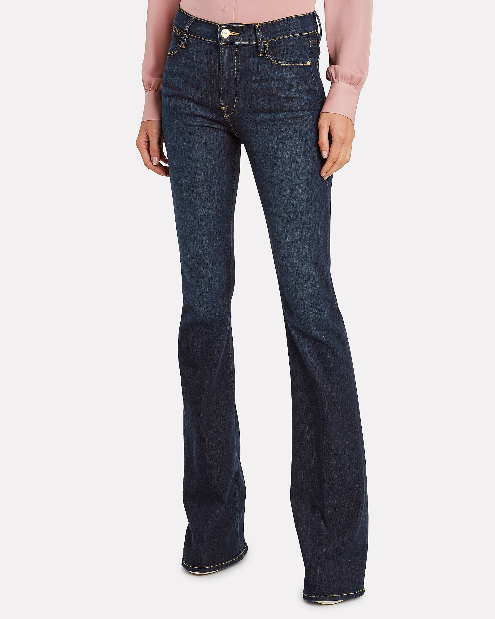 Le High Flare Jeans, DARK INDIGO DENIM, hi-res