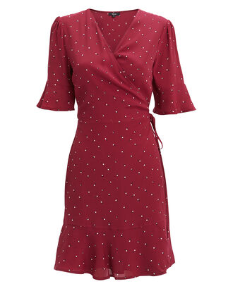 Aimee Rouge Polka Dot Dress, RED-DRK, hi-res