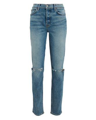 Karolina Distressed High-Rise Jeans, WHAT IS LIFE, hi-res