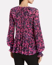 Helena Pleated Chiffon Blouse, PINK, hi-res
