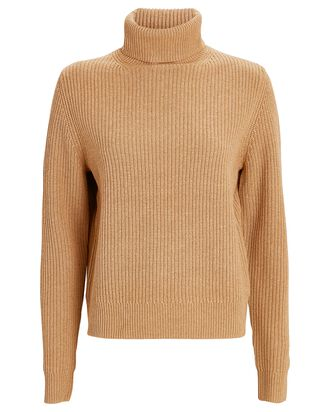 Mitchell Wool-Blend Turtleneck Sweater, BROWN, hi-res