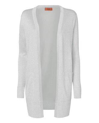 Silver Lurex Cardigan, METALLIC, hi-res