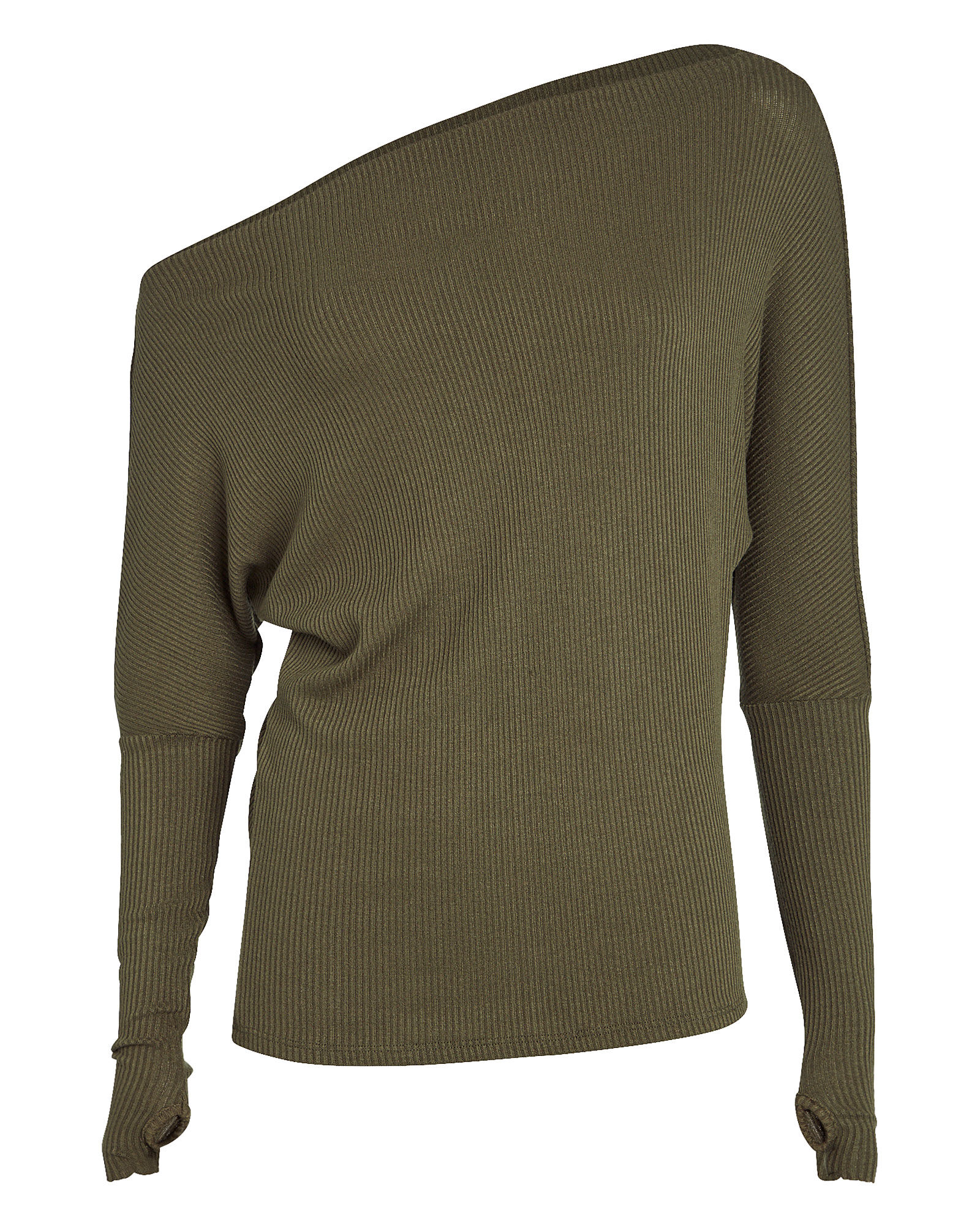 Slouch Rib Knit Top, OLIVE/ARMY, hi-res