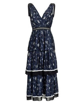 a3d00c93db1d0 Star Print Tiered Midi Dress. Self-Portrait ...