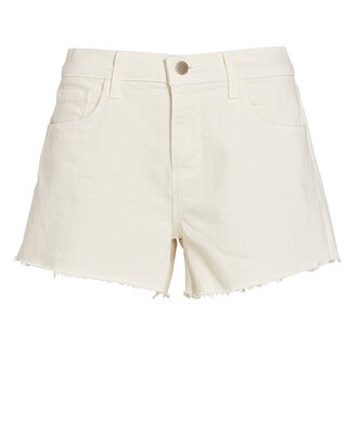 Audrey Cut-Off Denim Shorts, VINTAGE WHITE, hi-res