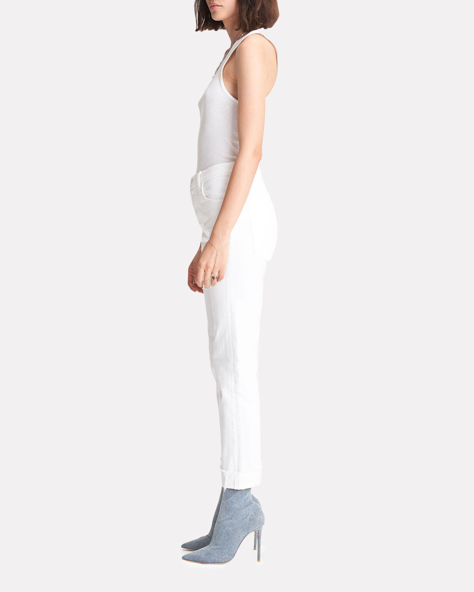 The Scrapper Cuff Ankle Fray Jeans, TOTALLY INNOCENT, hi-res