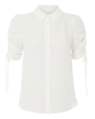 Carmine Blouse, WHITE, hi-res