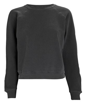 The Shrunken Cotton Sweatshirt, BLACK, hi-res