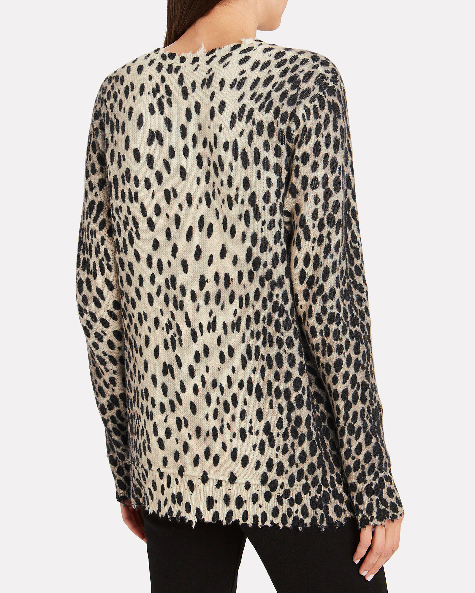Cheetah Cashmere Crewneck Sweater, MULTI, hi-res