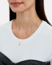 Small Pavé Happy Face Necklace, GOLD, hi-res