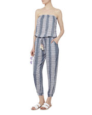 Brooke Pacific Stripe Strapless Jumpsuit, PATTERN, hi-res