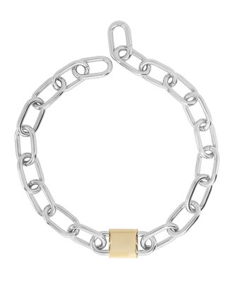 Double Lock Link Chain Necklace, METALLIC, hi-res