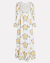 Papaya Printed Linen Maxi Dress, MULTI, hi-res