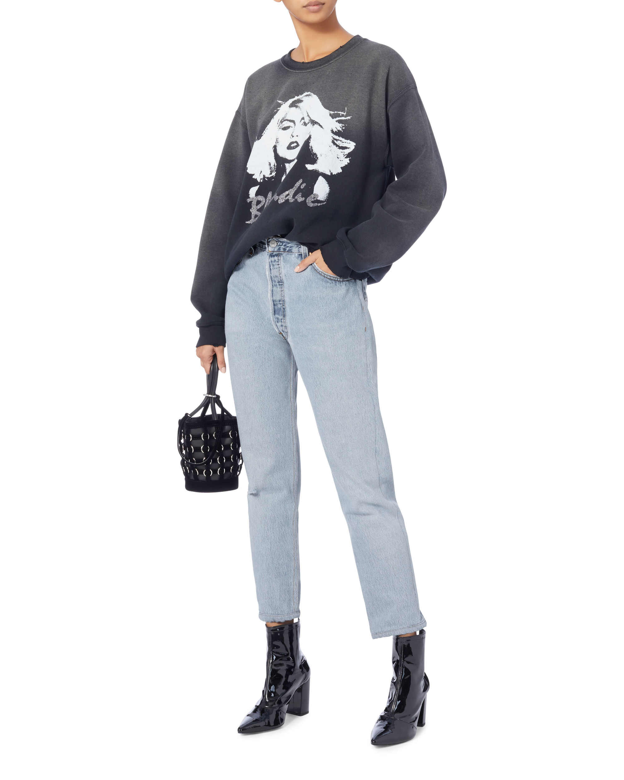 Relaxed Destroyed High-Rise Jeans, DENIM 2, hi-res