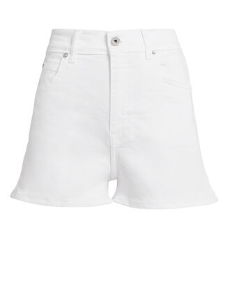 Leo Denim Shorts, WHITE, hi-res