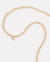 Beaded Bezel Diamond Necklace, GOLD, hi-res