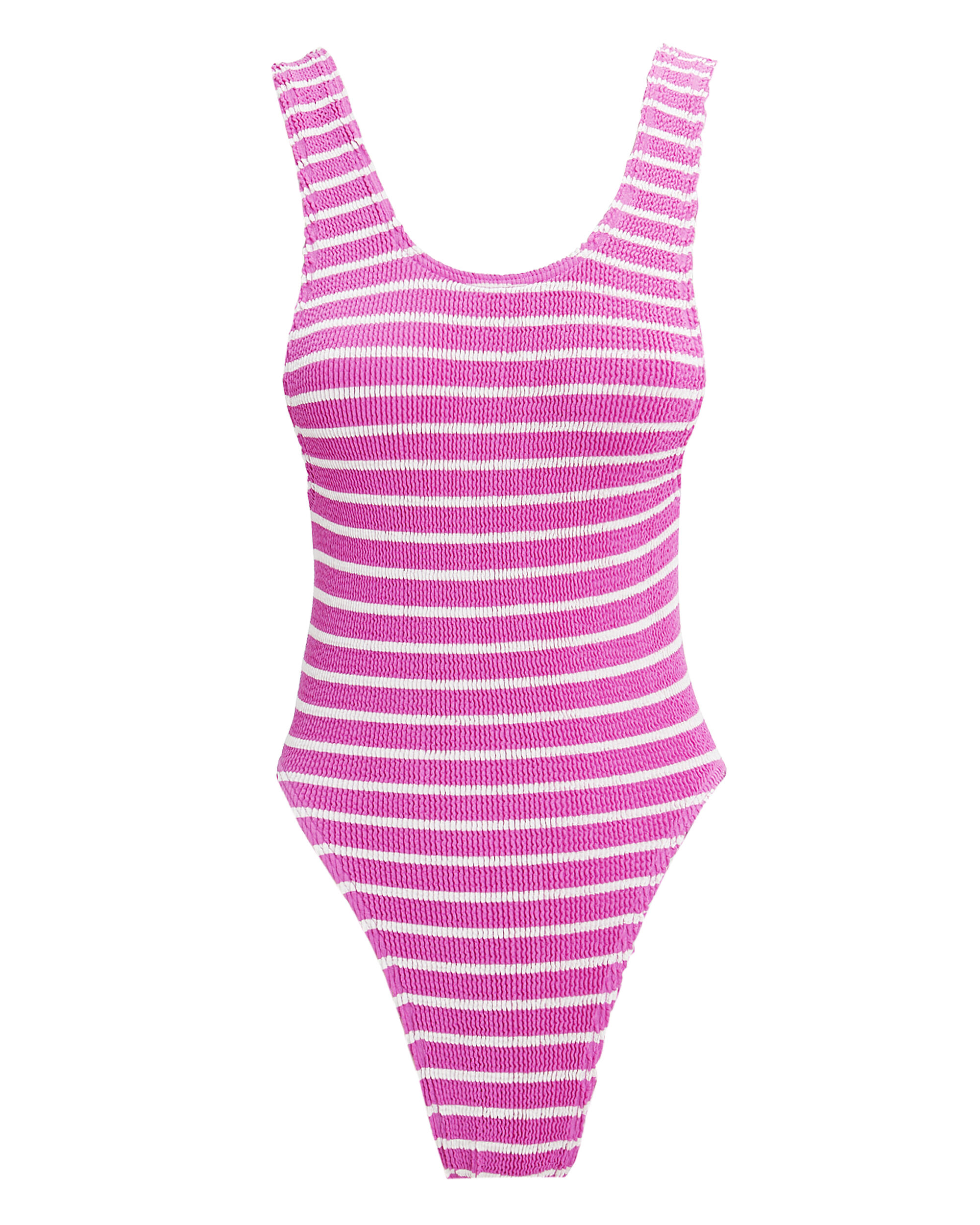 Maxam Berry Striped One Piece Swimsuit, BERRY/WHITE, hi-res