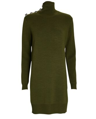 Banner Merino Wool Sweater Dress, OLIVE/ARMY, hi-res