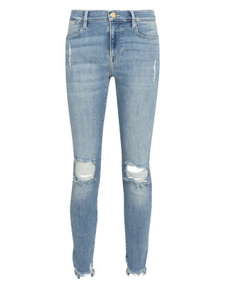 Le High Skinny Crop Jeans, LIGHT WASH DENIM, hi-res