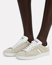 70s Suede Tennis Sneakers, GREY, hi-res
