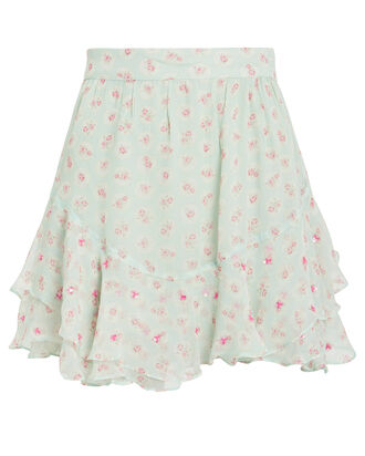 Sana Floral Mini Skirt, MINT/FLORAL, hi-res