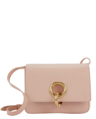 Charlie Mini Leather Shoulder Bag, WHITE, hi-res