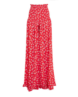 Biasi Floral Wide Leg Pants, RED/WHITE FLORAL, hi-res