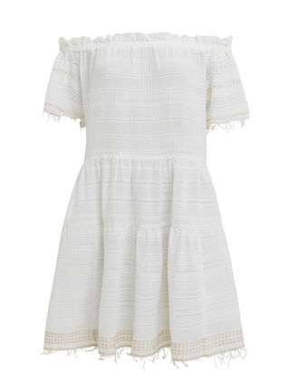 Kelali Mini Dress, WHITE/GOLD, hi-res