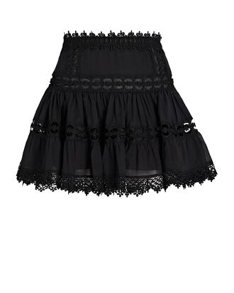 Greta Lace Mini Skirt, BLACK, hi-res