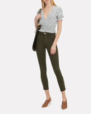 Margot Piper Army High-Rise Ankle Skinny Jeans, GREEN, hi-res