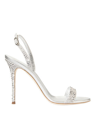 Adaile Stiletto Sandals, SILVER, hi-res