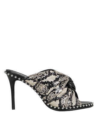 Lily Half Snakeskin Leather Sandals, BLACK/SNAKESKIN, hi-res