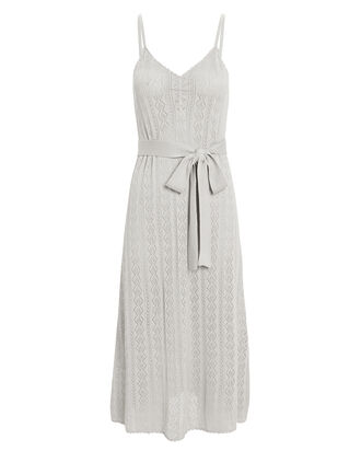 Lila Pointelle Slip Dress, GREY, hi-res