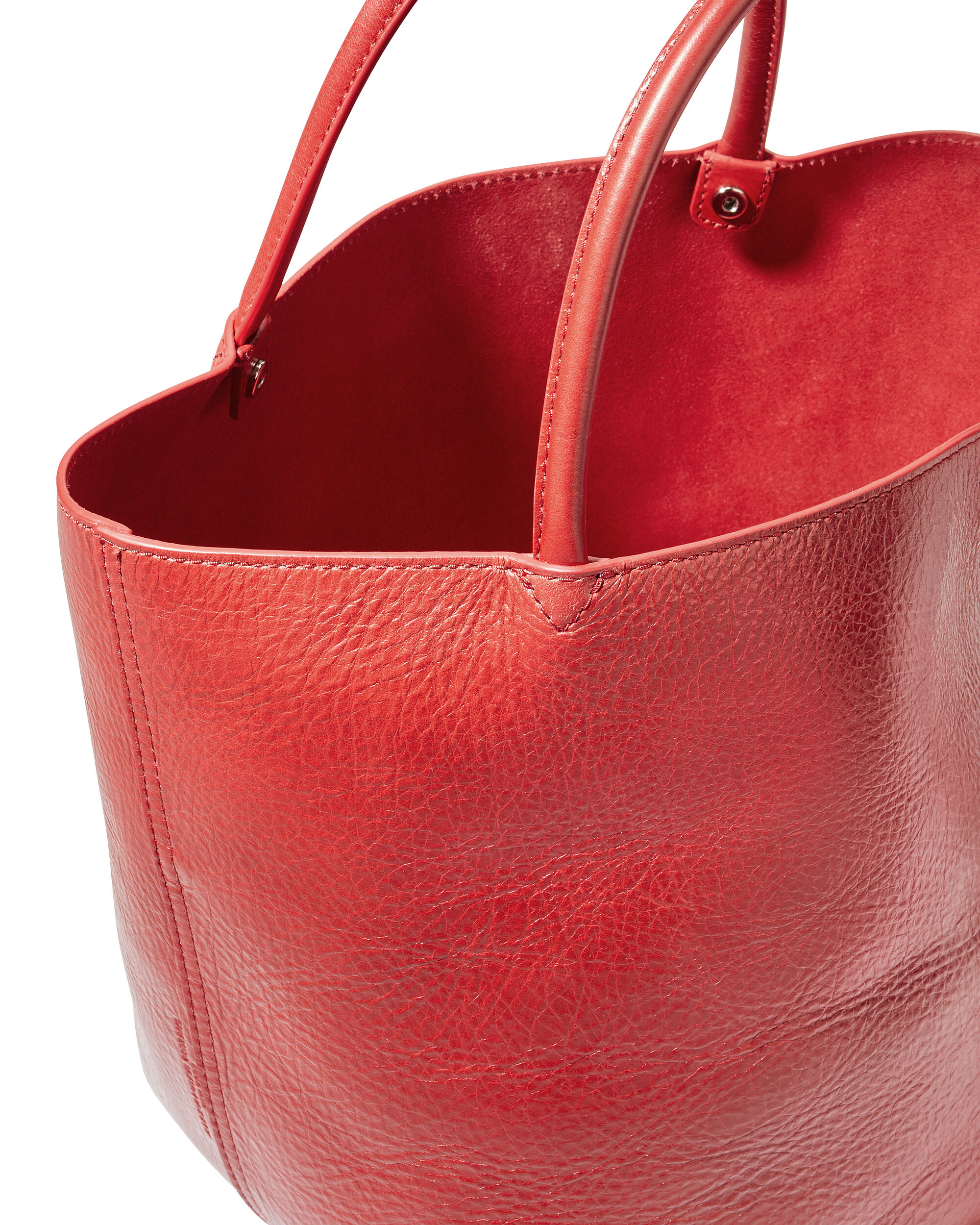 Roxy Small Red Leather Tote, RED, hi-res