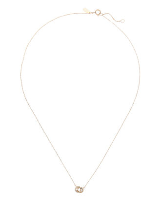 Pavé Interlocking Loop Necklace, GOLD, hi-res