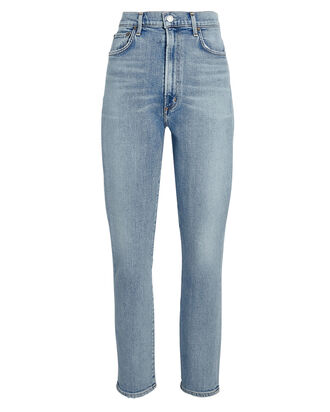Pinch Waist Skinny Jeans, DEBUT, hi-res