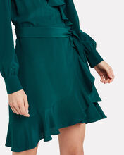 Aviana Silk Wrap Dress, GREEN, hi-res