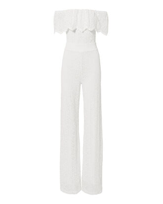 Positano Dove Lace Jumpsuit, WHITE, hi-res
