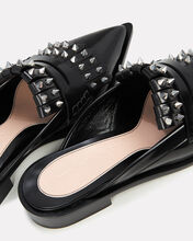 Studded Leather Loafers, BLACK, hi-res